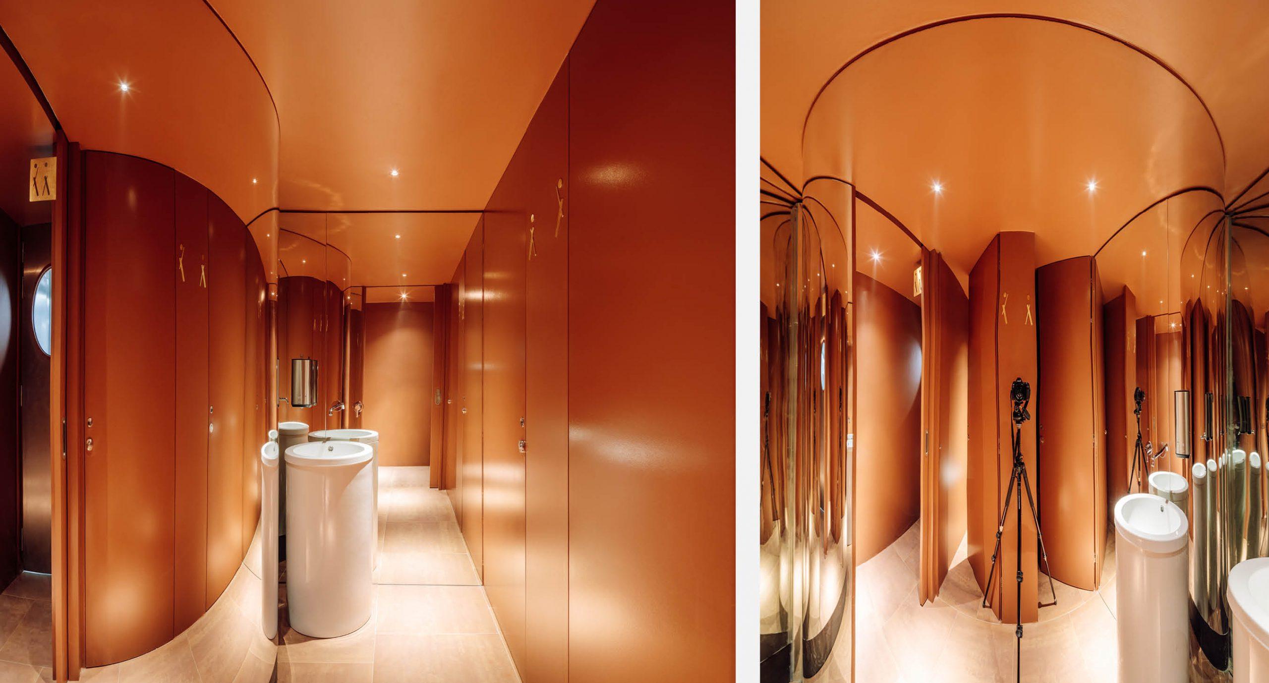 Spacegram_Nomada_Restaurant_Red_WoodPanels_CNC_Gold_Mirror_wc_01